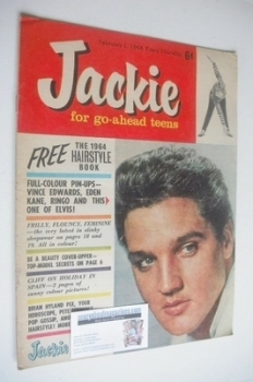 <!--1964-02-01-->Jackie magazine - 1 February 1964 (Issue 4 - Elvis Presley cover)