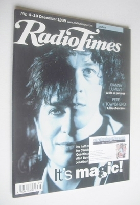 <!--1999-12-04-->Radio Times magazine - Caroline Quentin and Alan Davies co