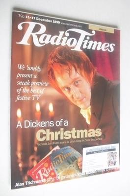 <!--1999-12-11-->Radio Times magazine - Nicholas Lyndhurst cover (11-17 Dec