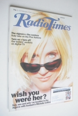<!--2000-02-05-->Radio Times magazine - Michelle Collins cover (5-11 Februa