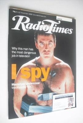 <!--1999-11-06-->Radio Times magazine - Donal MacIntyre cover (6-12 Novembe