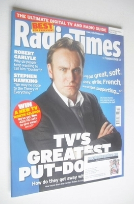 <!--2008-03-01-->Radio Times magazine - Philip Glenister cover (1-7 March 2