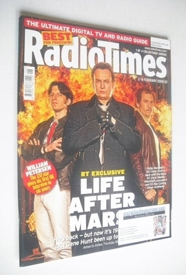 <!--2008-02-02-->Radio Times magazine - Life After Mars cover (2-8 February