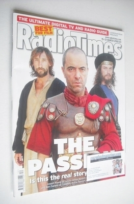<!--2008-03-15-->Radio Times magazine - The Passion cover (15-21 March 2008