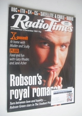 <!--1997-11-29-->Radio Times magazine - Robson Green cover (29 November - 5
