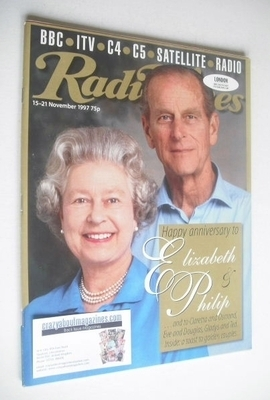 <!--1997-11-15-->Radio Times magazine - Queen Elizabeth II and Prince Phili