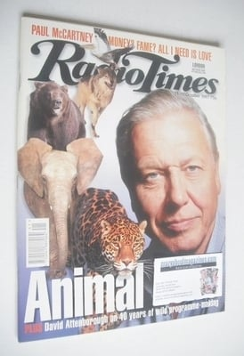 <!--1997-10-11-->Radio Times magazine - David Attenborough cover (11-17 Oct
