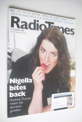 <!--2001-06-09-->Radio Times magazine - Nigella Lawson cover (9-15 June 200