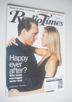 <!--2001-02-24-->Radio Times magazine - Martin Kemp and Tamzin Outhwaite co