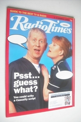 <!--2001-03-03-->Radio Times magazine - Derek Thompson and Cathy Shipton co