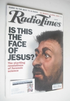 <!--2001-03-31-->Radio Times magazine - Is This The Face Of Jesus cover (31