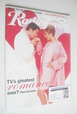<!--2001-02-10-->Radio Times magazine - David Schwimmer and Jennifer Anisto