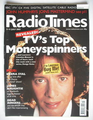 <!--2003-07-05-->Radio Times magazine - Laurence Llewelyn-Bowen cover (5-11