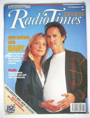 <!--1990-09-08-->Radio Times magazine - Kate Buffery and Nigel Planer cover