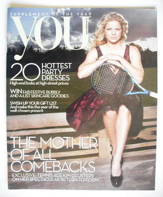 <!--2009-11-22-->You magazine - Kim Clijsters cover (22 November 2009)