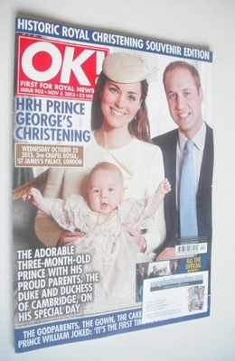 <!--2013-11-05-->OK! magazine - Kate Middleton, Prince William and Prince G