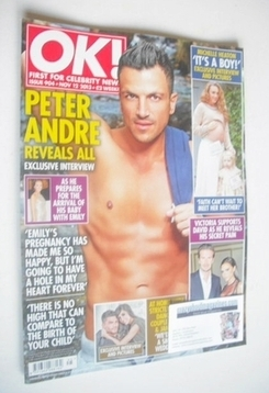 <!--2013-11-12-->OK! magazine - Peter Andre cover (12 November 2013 - Issue