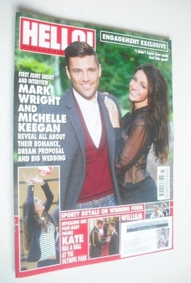 <!--2013-10-28-->Hello! magazine - Mark Wright and Michelle Keegan cover (2