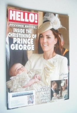 <!--2013-11-04-->Hello! magazine - Kate Middleton and Prince George cover (