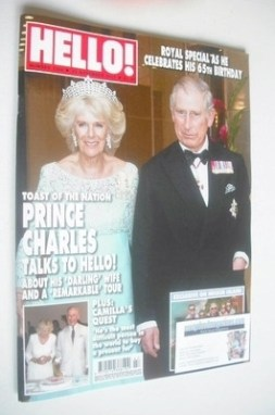<!--2013-11-25-->Hello! magazine - Prince Charles and the Duchess of Cornwa