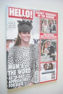 <!--2013-06-24-->Hello! magazine - Kate Middleton cover (24 June 2013 - Iss