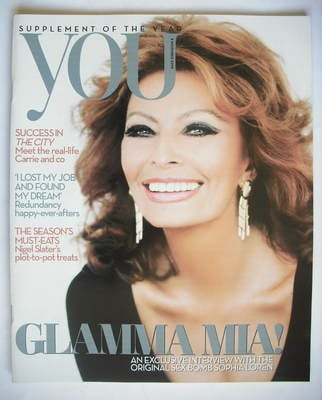 <!--2009-11-08-->You magazine - Sophia Loren cover (8 November 2009)