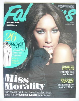 <!--2008-11-02-->Fabulous magazine - Leona Lewis cover (2 November 2008)