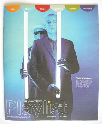 The Times Playlist magazine - 12 December 2009 - Pet Shop Boys cover