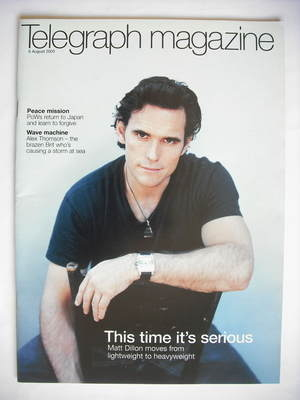 <!--2005-08-06-->Telegraph magazine - Matt Dillon cover (6 August 2005)