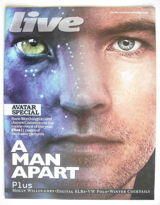 <!--2009-11-22-->Live magazine - A Man Apart cover (22 November 2009)