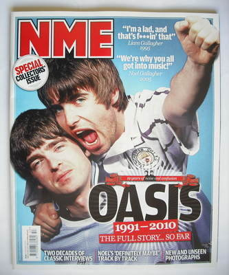 <!--2010-01-02-->NME magazine - Oasis cover (2 January 2010)