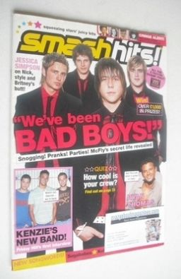 <!--2005-09-06-->Smash Hits magazine - McFly cover (6-19 September 2005)