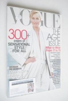 US Vogue magazine - August 2001 - Amber Valletta cover