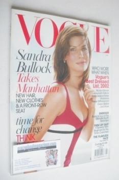 US Vogue magazine - January 2003 - Sandra Bullock cover