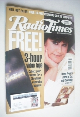 <!--1997-10-25-->Radio Times magazine - Dawn French cover (25-31 October 19