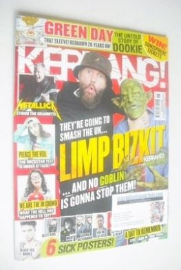 <!--2014-02-08-->Kerrang magazine - Limp Bizkit cover (8 February 2014 - Is