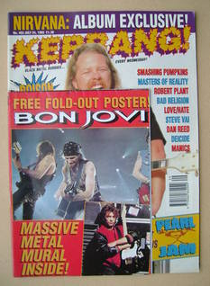 <!--1993-07-24-->Kerrang magazine - James Hetfield cover (24 July 1993 - Is