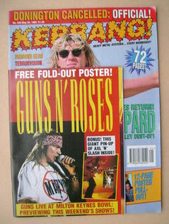 <!--1993-05-29-->Kerrang magazine - Joe Elliott cover (29 May 1993 - Issue