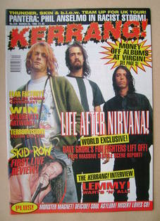 <!--1995-03-25-->Kerrang magazine - Foo Fighters cover (25 March 1995 - Iss