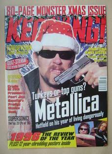 <!--1996-12-21-->Kerrang magazine - James Hetfield cover (21/28 December 19
