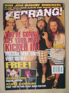 <!--1994-09-17-->Kerrang magazine - Pantera cover (17 September 1994 - Issu