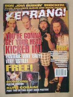 <!--1994-09-17-->Kerrang magazine - Pantera cover (17 September 1994 - Issu
