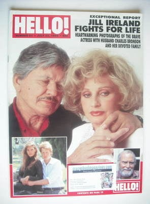 <!--1989-07-22-->Hello! magazine - Jill Ireland and Charles Bronson cover (