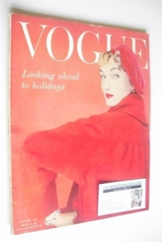 British Vogue magazine - January 1955 (Vintage Issue)