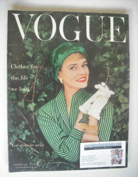 British Vogue magazine - February 1955 (Vintage Issue)