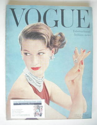 <!--1955-03-->British Vogue magazine - March 1955 (Vintage Issue)