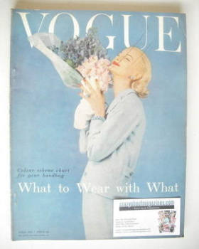 British Vogue magazine - April 1955 (Vintage Issue)