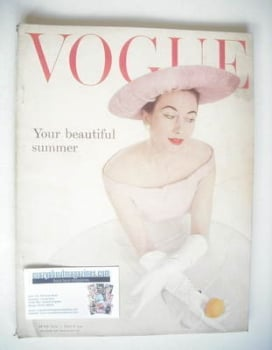 British Vogue magazine - June 1955 (Vintage Issue)