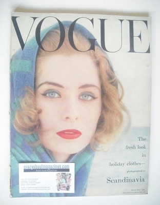 <!--1955-07-->British Vogue magazine - July 1955 (Vintage Issue)