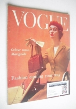 British Vogue magazine - August 1955 (Vintage Issue)